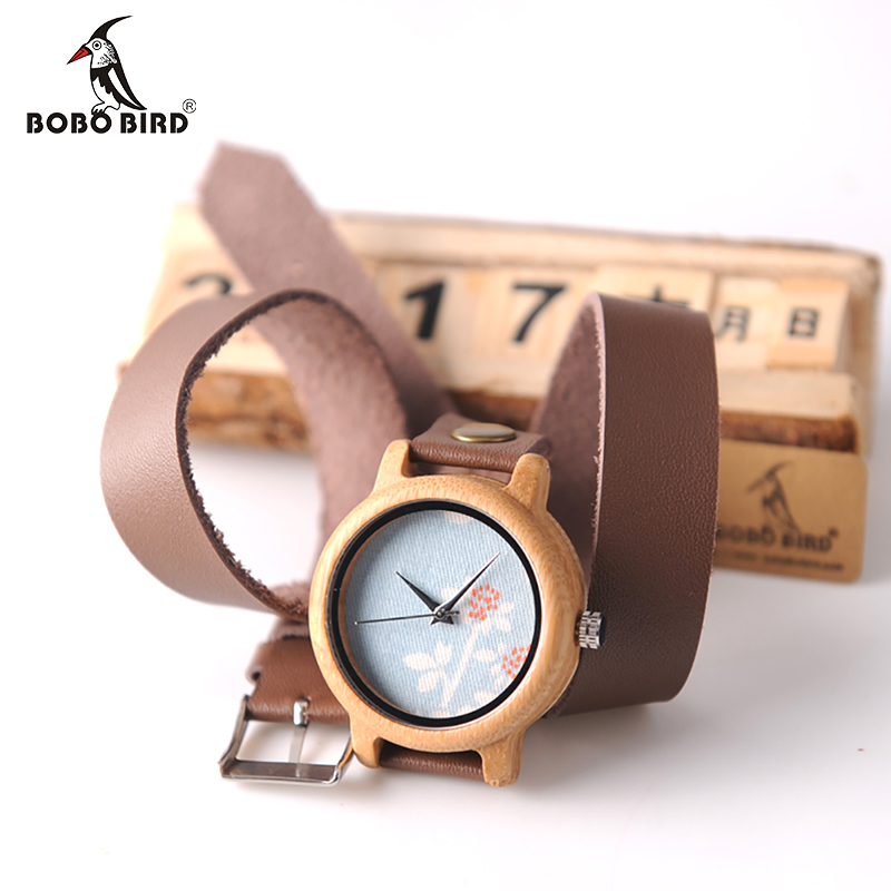 BOBO BIRD M22 Handmade Women Unique Wood Watch Fashion Brand For Ladies Watch With Quartz Movement Montres femmes With Gift Box bobo bird brand new wood sunglasses with wood box polarized for men and women beech wooden sun glasses cool oculos 2017