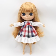Factory Blonde Nude Neo Blythe Doll Tanned Skin Jointed Body