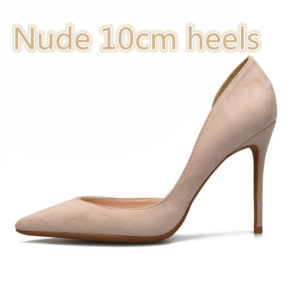 Stylesowner New Coming Pointed Toe Shallow Solid Color Pumps Dress Single Shoes For Woman Pu Slip On Large Size Thin Heels Shoes by Stylesowner