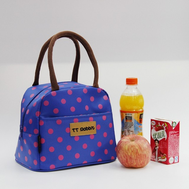 Picnic Lunch Bags Insulation Package Thermal Box Dot Zipper Bag Fashion Handbags