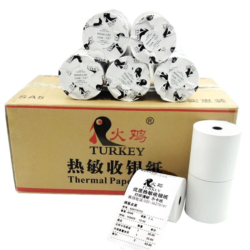Thermal Paper Roll 80x80 Mm  Cash Register Receipt Paper  Sample Pack Roll Of 2 Pieces
