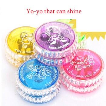 Huilong Creative glowing small toy colorful yo yo  With electronic flash yo-yo juggling toys kids ladybug  professional magicyoyo n11 aluminum alloy yo yo toy black golden