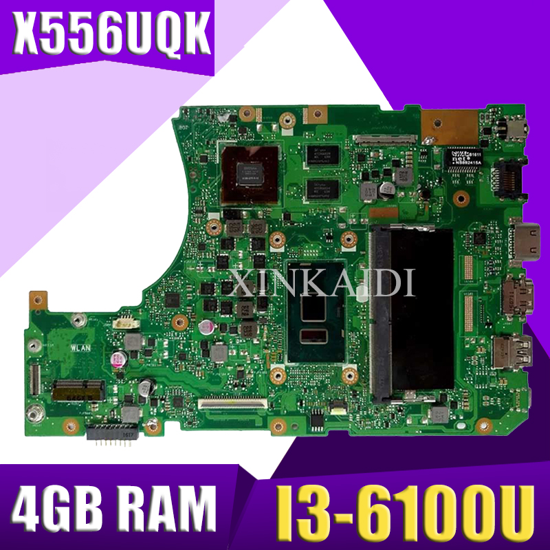 X550IU RX460/4G Graphics card + DDR4-FX-9830P CPU 8GB RAM Laptop mainboard For ASUS X550I X550IK X550IU Notebook motherboard