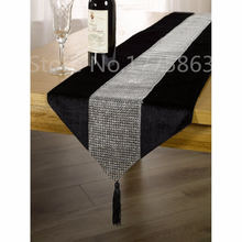 Christmas Decor 32x185cm European Style Luxury Flannel Sequin Table Runner Wedding Party Banquet Decoration AA7876