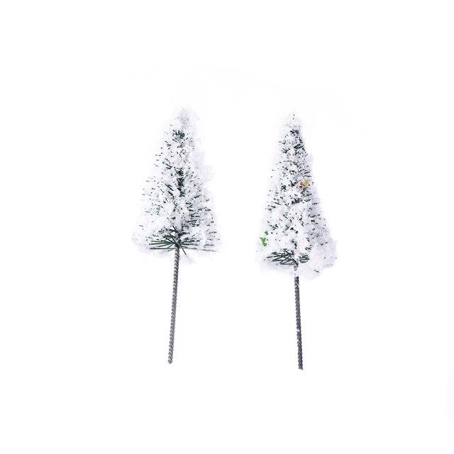 10 pcslot mini lovely lifelike adorable white christmas tree simulation tree terrarium micro landscape