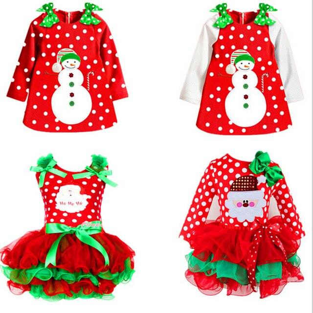 אדום תינוק שמלת חג המולד עבור ילדה ילדים חדש שנה פסטיבל סנטה תלבושות ילדים מסיבת שמלות לילדה 2 3 4 5 6 פעוט בגדים