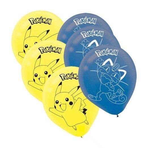 50pcs Pikachu Poke Mon Pokemon Birthday Party Blue Yellow Printed Latex Balloons Latex Balloons Baby Party Decorations
