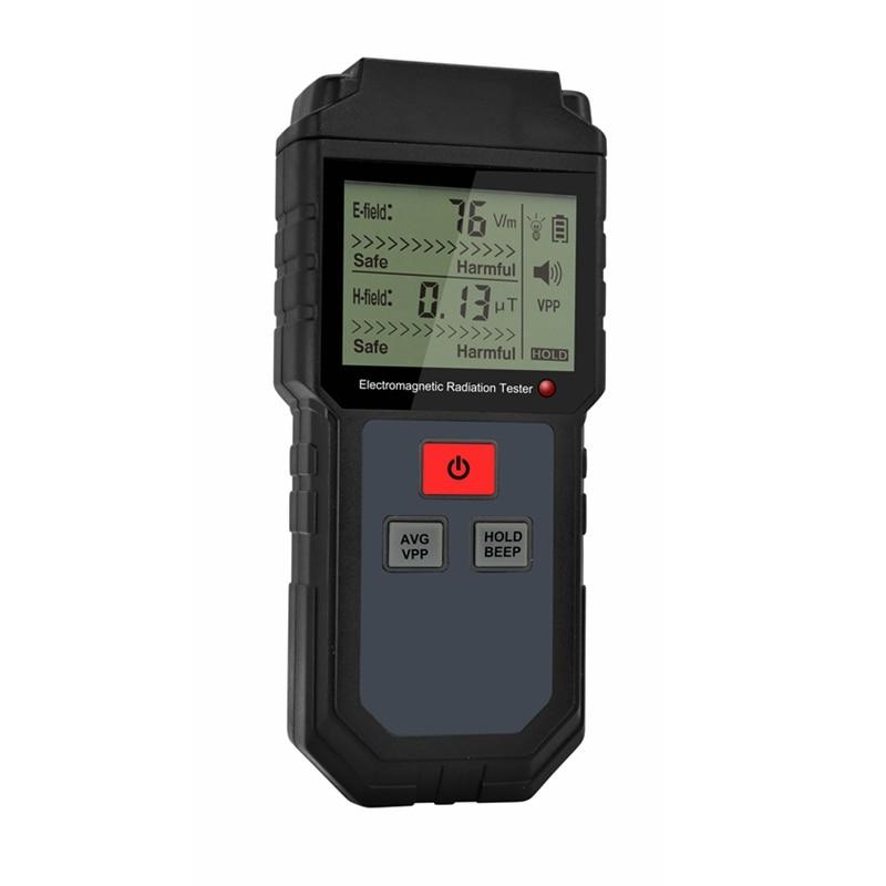 Digital Electromagnetic Radiation Detector Sensor LCD Indicator Data Lock EMF Meter Electric Magnetic Field Frequency Tester|Electromagnetic Radiation Detectors| |  - title=