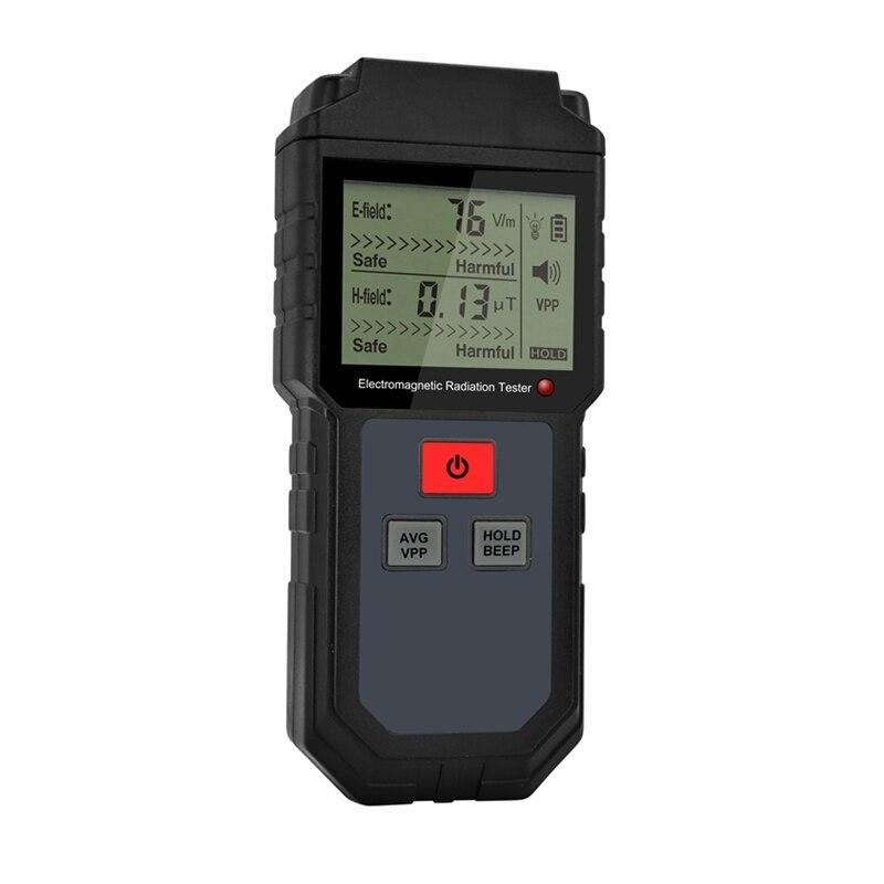 Sensor Detector de radiación electromagnética Digital, indicador LCD, bloqueo de datos, medidor EMF, medidor de frecuencia de campo magnético eléctrico