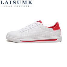 LAISUMK Mens 2019 Spring And Summer Breathable White shoes, Casual Shoes Fashion Trend Mesh mens