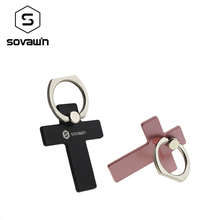 Sovawin Cross Smartphone Universal Stand Cell Phone Finger Ring Grip Back Holder Bracket 360 Mount Mobile Phone Stand for Phone