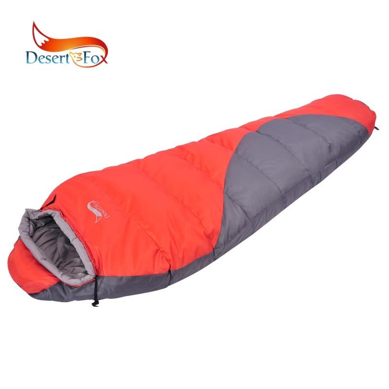 Sac de couchage momie de Type hiver désert et renard, sac de couchage léger Portable à Compression sac de couchage chaud pour Camping par temps froid