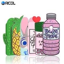 """Новый 3D Мальчики Слезы Любовный напиток Холод Таблетки Силиконовые Case Для Meizu M3 Note/Meilan Note 3 5.5 """"Case Ананас Кактус Мягкая Обложка"""