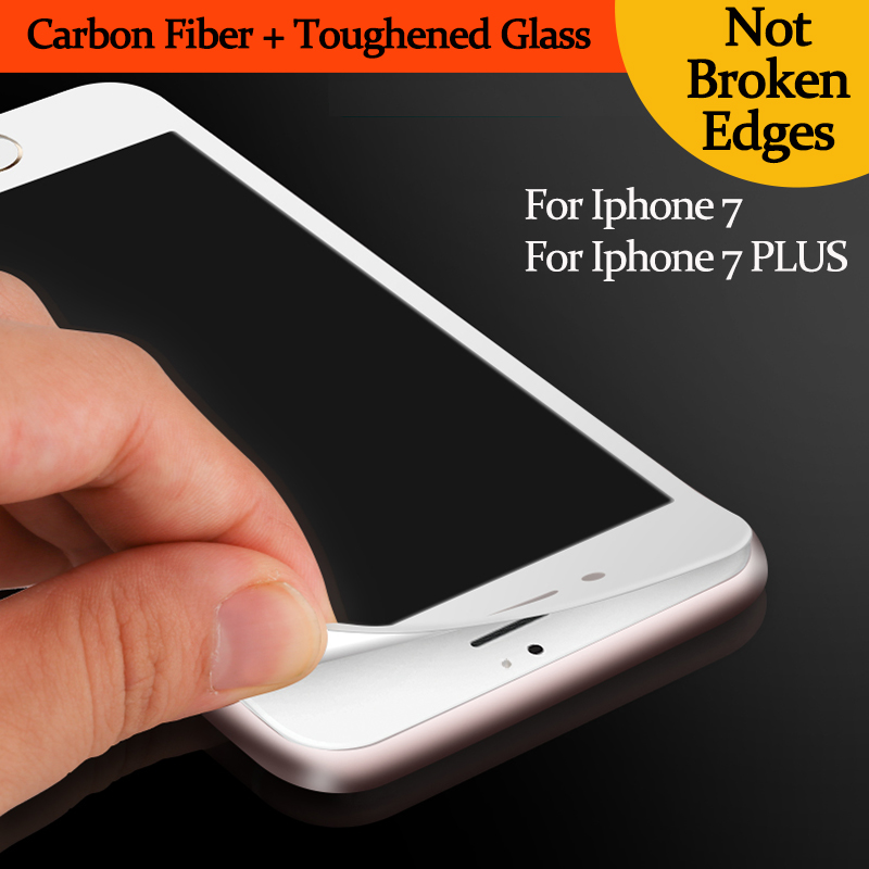 3D Curved Edge Full Cover Tempered Glass for Iphone 7 7 Plus Premium Screen Protector Toughened Glass Protective Film