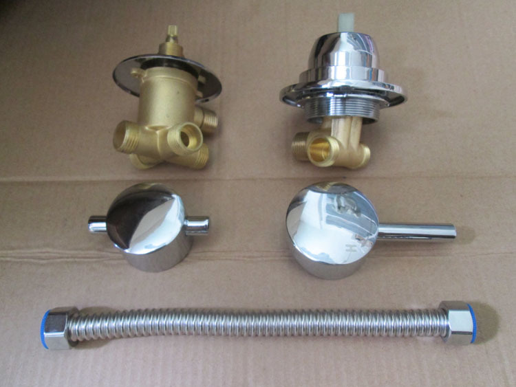 way water outlet bathroom shower faucet mixing valve set in bath