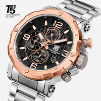 High quality Luxury brand T5 steel band Man designer Quartz Chronograph Waterproof Mens Watches Wristwatches Sport Watch