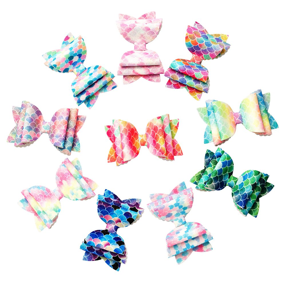 3.5'' Women Baby Girl Glitter Mermaid Hair Bow Kids Hairpins Hair Clip For Children Hair Accessories Toddler Headwear
