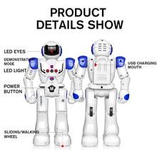 Remote Control Robot RC Robot Sing Dance Toy Gesture Sensor Action Walk Rechargeable Smart Robot for Kid Children Birthday Gift