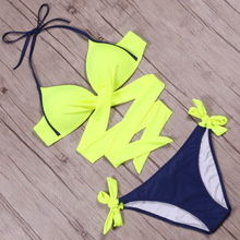 Cross Halter Bikinis Set