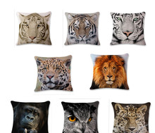 цена New 3D Pattern Pillow Case Digital Print Pillow Animal Pattern Car Cushion Pillow Pillow Case Home Hotel Decoration