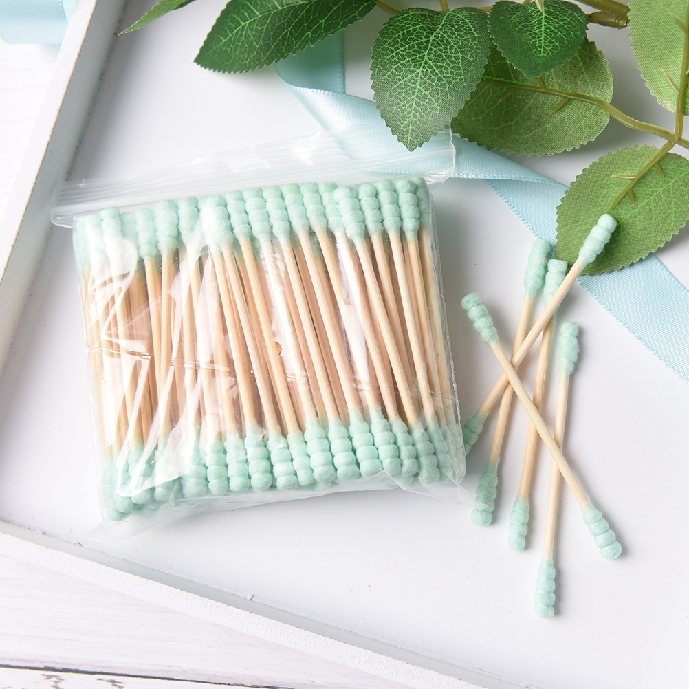 Beauty & Health Friendly 100pcs Pink Green Cosmetic Cotton Swab Stick Double Head Ended Clean Cotton Buds Ear Clean Tools For Children Adult