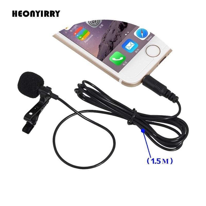 Из 2 предметов 3,5 мм Jack микрофон петличный зажим для галстука на лацкане Mikrofon Microfono микрофоном для мобильного телефона для говоря лекции оптовая продажа
