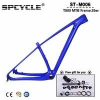 Spcycle New Color 29er MTB Full Carbon Frames,27.5er/29er Mountain Bike Carbon Frames Thru Axle 142x12mm or 135*9mm 15/17/19/21