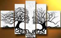 Hand Painted Romantic Lover Tree Painting Home Decor Landscape Canvas Art Paintings For Living Room Wall White Oil Paintings