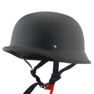 Image 2 - Demi casque de vélo unisexe rétro de Moto, casque de moto, demi Face allemand, casque M/L/XL, noir mat
