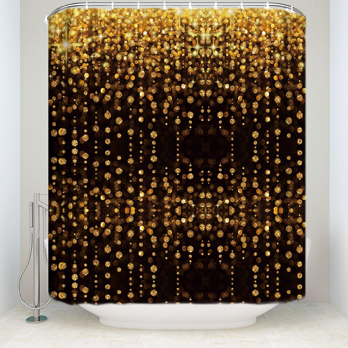 Home Luxury Bling Shower Curtains Warm