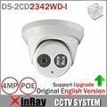 Lo nuevo Original Inglés Versión DS-2CD2342WD-I MP EXIR Torreta Network Camera WDR MINI Cámara Domo IP CCTV Cámara 2.8mm Lente
