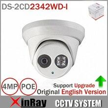 Date Version Originale Anglaise DS-2CD2342WD-I 4MP WDR EXIR Tourelle Caméra Réseau MINI-Dôme IP Caméra CCTV Caméra 2.8mm Objectif