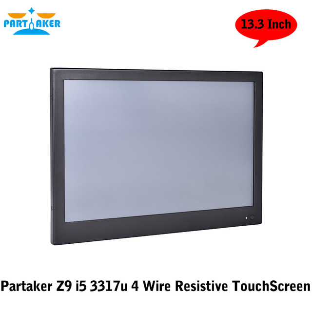 2G RAM 32G SSD All In One Panel PC With 13.3 Inch Made-In-China 4 Wire Resistive Touch Screen Intel Core I5 3317u