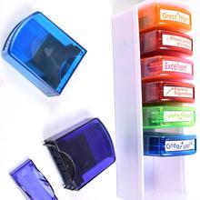 toy for children 8pcs Colorful Teacher Seal Set School Grading Stamp HN-PP103