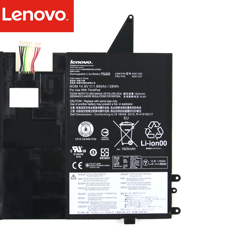 Genuine 45N1100 battery for Lenovo thinkpad X1 Helix Tablet PC 45N1100  45N1101 battery 41CP3/71/90