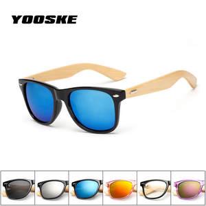 f4588baa1a901 YOOSKE Women Sun Glasses Vintage Wooden Brand Design
