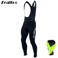Zealtoo 2018 Black Spring/Autumn Quick Dry Cycling Long Pants/Cycling Bib Pants Kits Strap Men Mtb Wear Pantalon Ciclismo