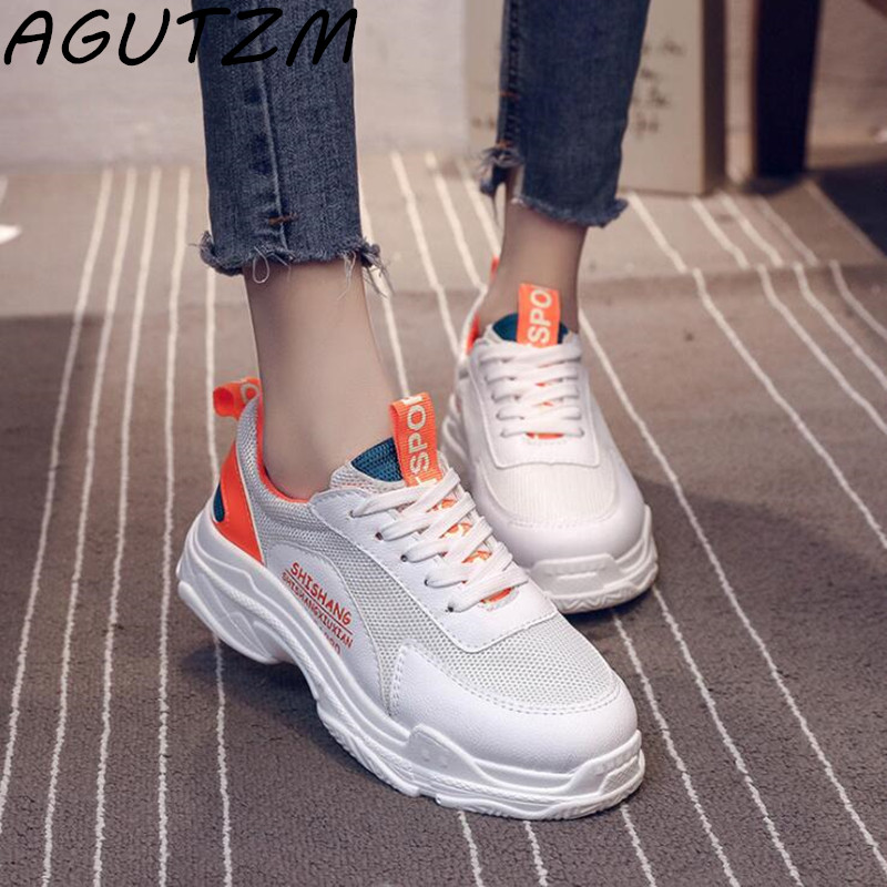 AGUTZM Sneakers Fashion Women Casual Shoes Light Weight Breathable zapatillas mujer Women Vulcanize Shoes Women Casual Shoes