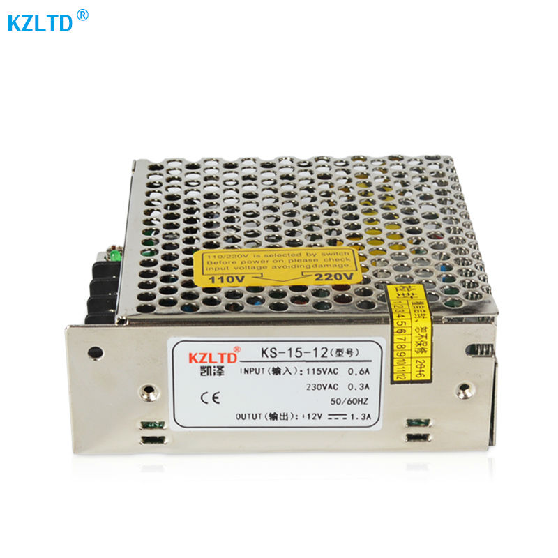 Switching Power Supply 12V 1.3A 15W LED SMPS Regulated Switching ...