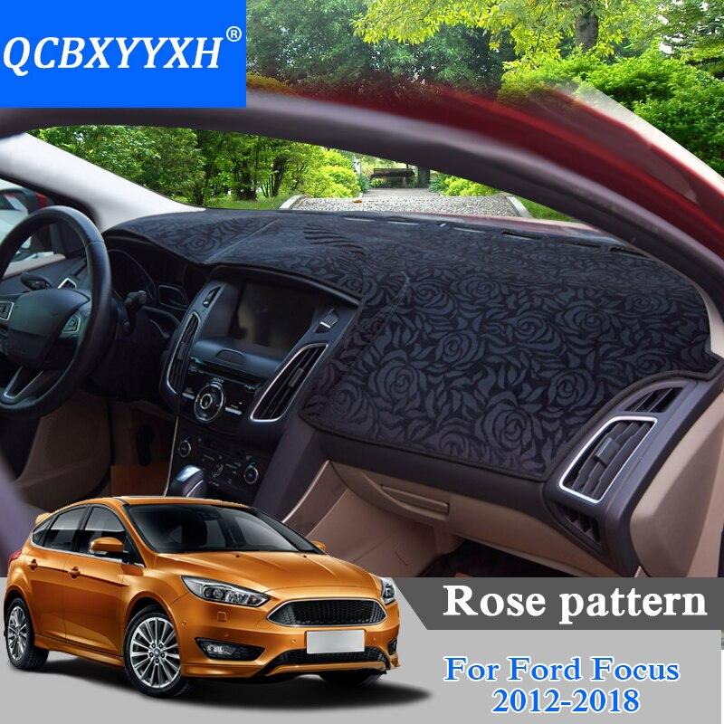 Voiture style tableau de bord tapis de protection ombre coussin coussin tapis motif Rose pour Ford Classic Focus 2004-2018LHD & RHD tapis anti-dérapant