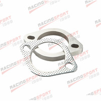 US SHIP A Set of 3 Inch 2 Bolt Exhaust Pipe Flange and Gasket High Performance