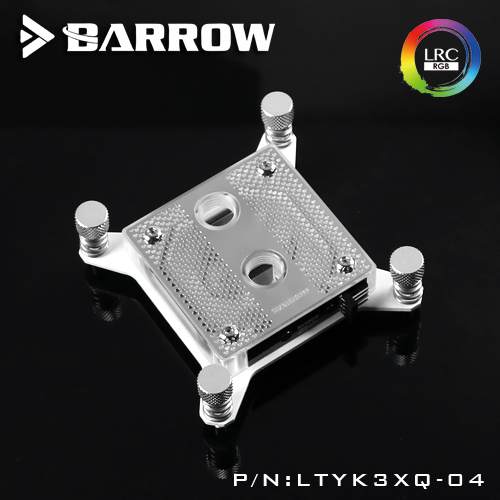 Barrow WaterCooling CPU water Block use for INTEL Socket X99 platformTransparent Acrylic 0.4MM Microchannels RGB Light cpu coole barrow ltyk3x 04 v2 lrc2 0 rgb cpu water cooling block for intel x99