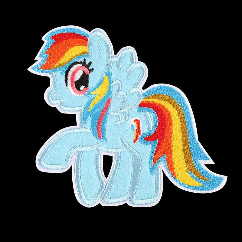Нашивки в форме единорога из мультфильма «Мой Маленький Пони», нашивки в форме единорога для одежды, значки-наклейки для девочек, аппликации