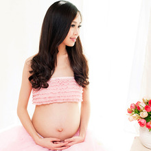 2 Pcs Elegant Pink Maternity Dress Photography Props Pregnancy Clothes Maternity Dresses For pregnant Women Photo Shoot Clothing