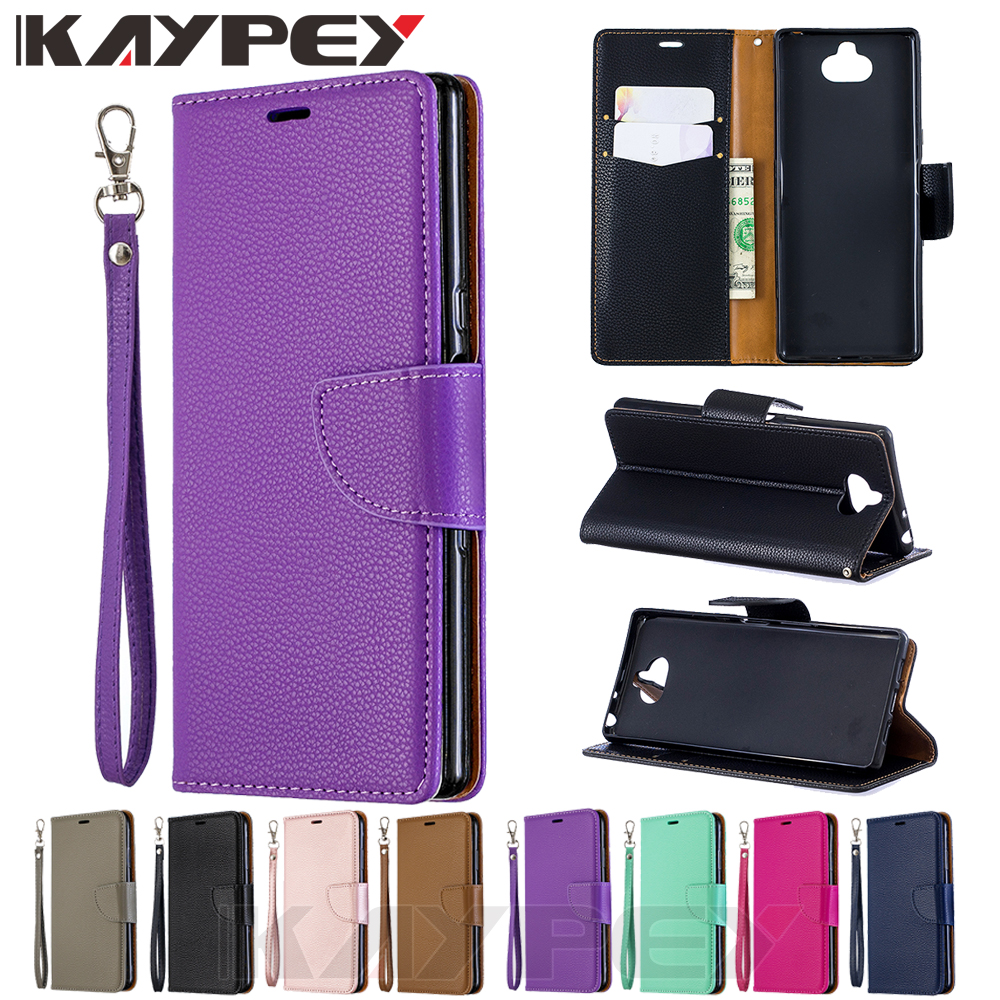 For <font><b>Sony</b></font> Xperia 10 <font><b>Case</b></font> Leather Wallet Flip <font><b>Case</b></font> Cover For <font><b>Sony</b></font> <font><b>Xperia10</b></font> <font><b>Cases</b></font> With Card Holder Book Coque image