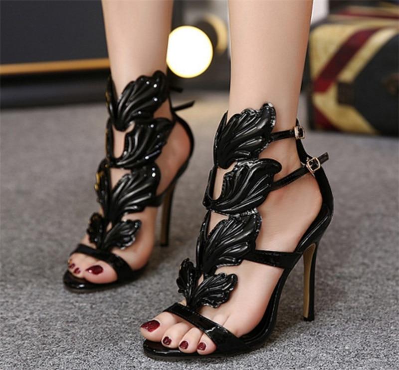 Aile Sandalias Feminino Chaussures Peep Pompes Partie Mariage Show Luxe as Designer Sapato Toe Femmes Mujer Talons Brillant Mode De Show As New Haute 2018 YfIqOnA