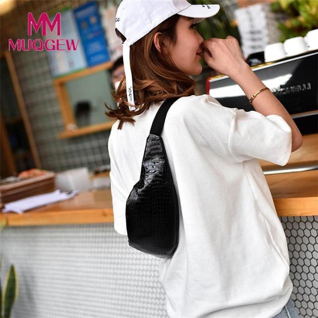Waist Pack Women Fanny Pack 2018 Crocodile Pattern Leather Messenger Belt Bag Chest Bolosa Waist Bag Travel Waist Tool Bag