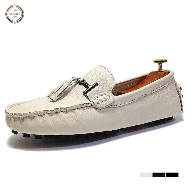 la moitié cb72d eb6dd US $41.4 |2016 new style men leather shoes boat shoes mocassin homme men  loafers mocasines hombre slip on flats chaussures homme summer.-in Women's  ...