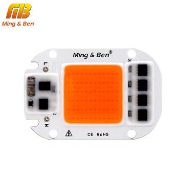 LED COB Chip For Grow Plant Light Full Spectrum 220V 110V 20W 30W 50W For Indoor Plant Seedling Grow and Flower Growth Lighting