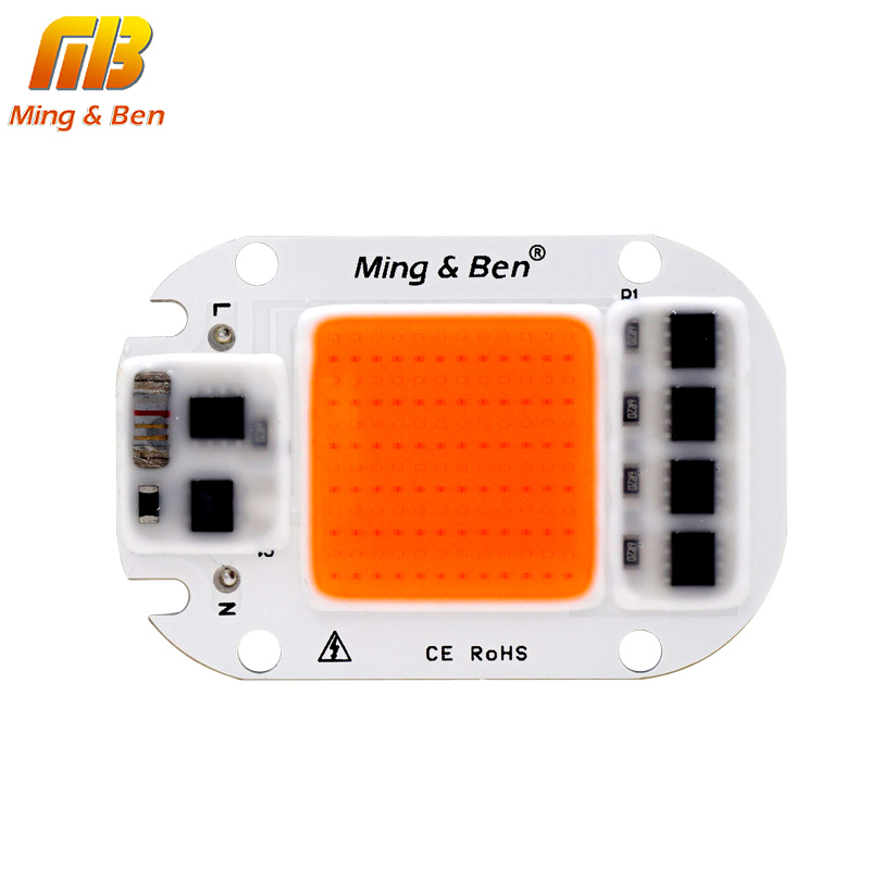 [MingBen] LED COB Chip For Grow Plant Light Full Spectrum Input 220V 110V 20W 30W 50W For Indoor Plant Seedling Grow and Flower